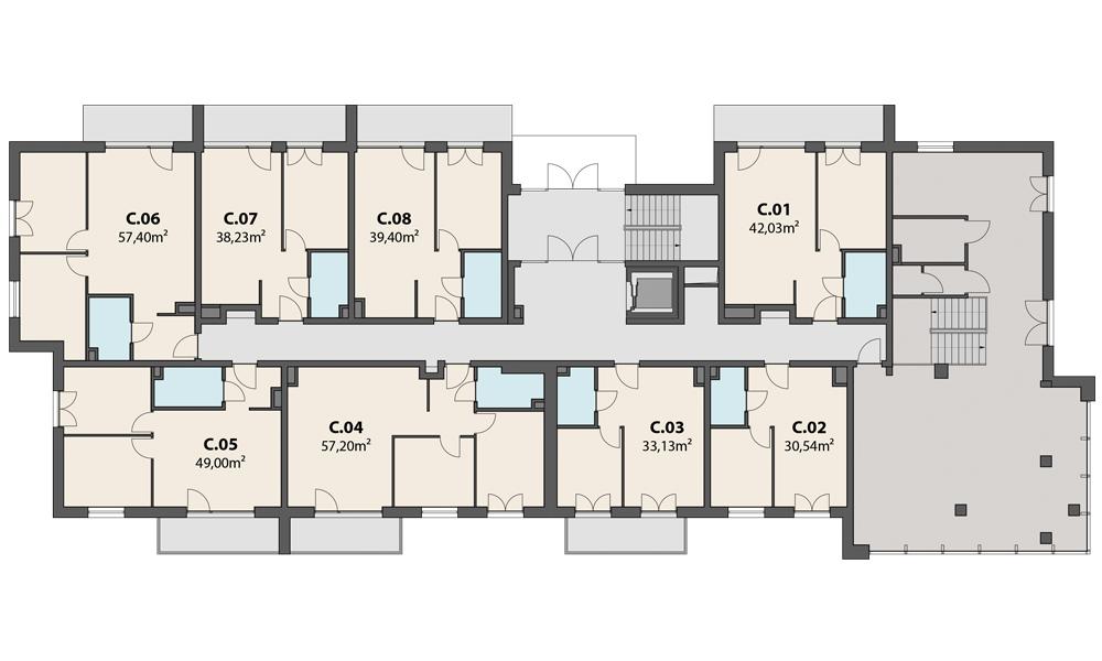 Etap 3 – 1 piętro