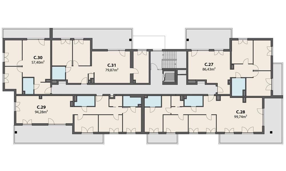 Etap 3 – 4 piętro
